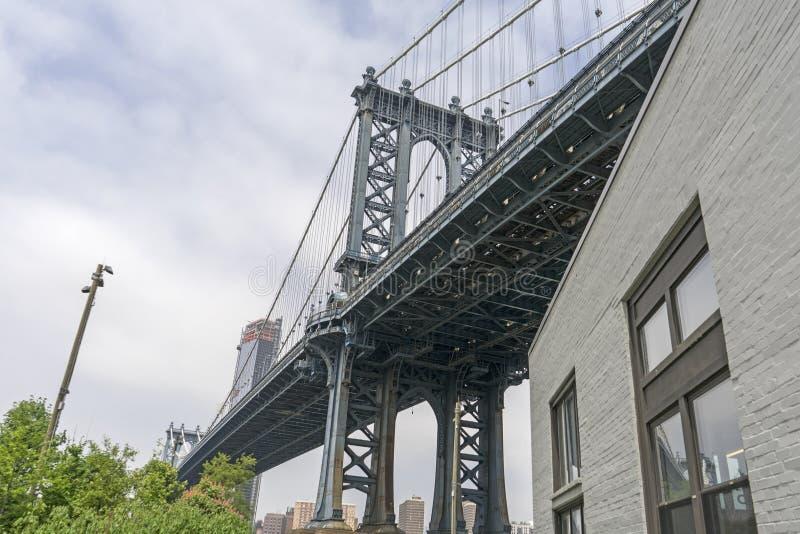 Голубое положение моста Манхэттена стоковые фото