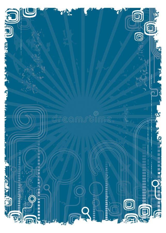 голубое ретро иллюстрация штока