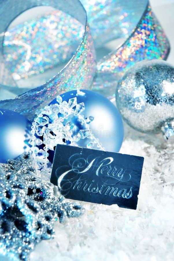 голубое рождество стоковые фотографии rf