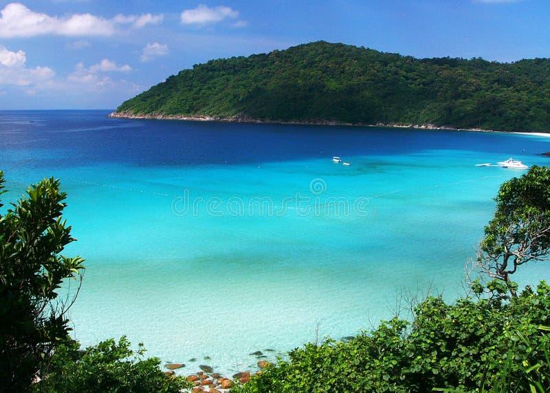голубое славное море стоковое изображение rf