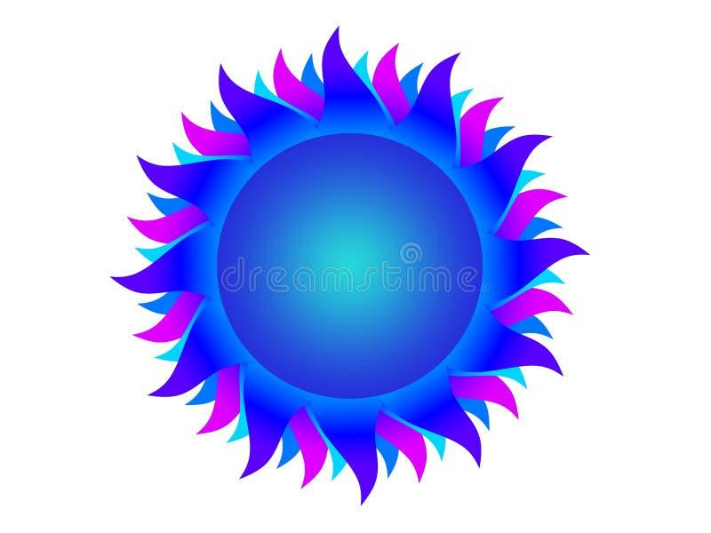 голубое солнце бесплатная иллюстрация