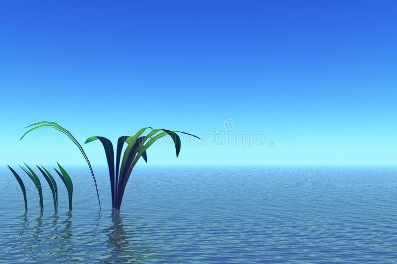 голубое спокойствие ландшафта бесплатная иллюстрация