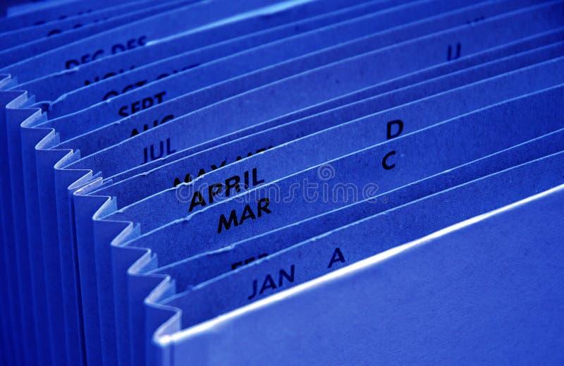 голубое тягло архива бюджети стоковая фотография rf