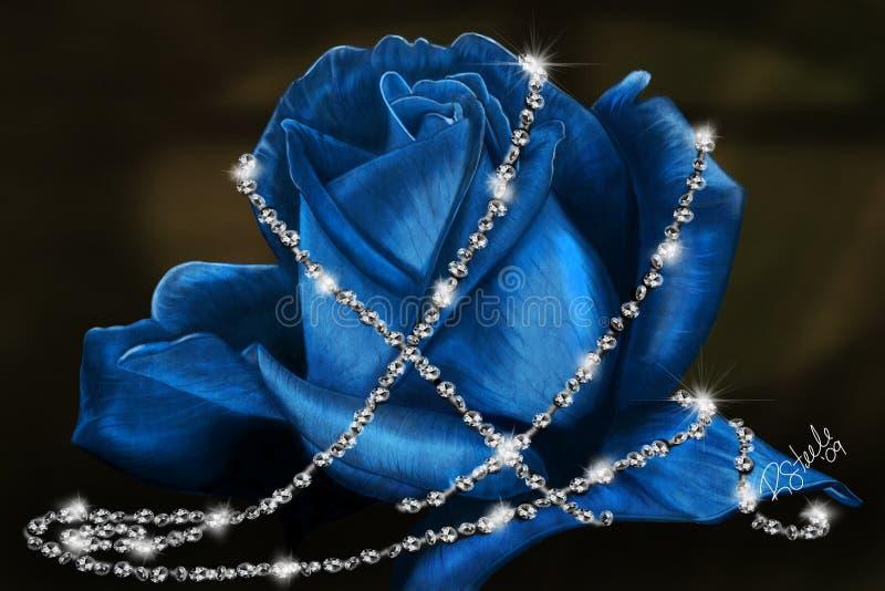 голубое чувствительное подняло стоковое изображение rf