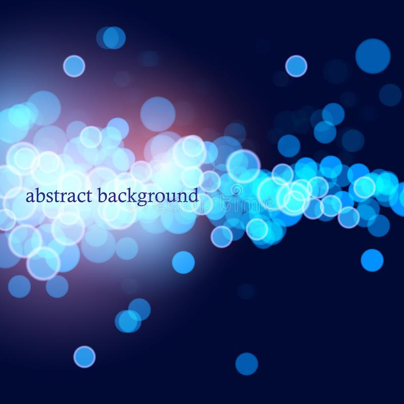 Голубое bokeh резюмирует светлые предпосылки иллюстрация вектора