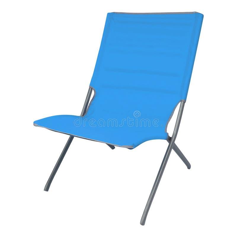 Голубое deckchair лета изолированное на белизне стоковые фотографии rf