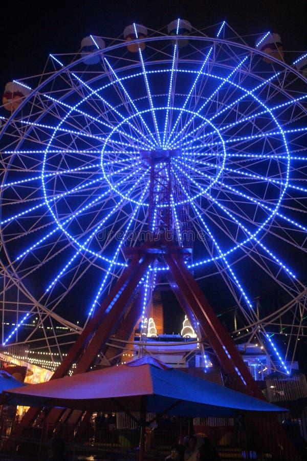 Голубое ferriswheel стоковая фотография rf