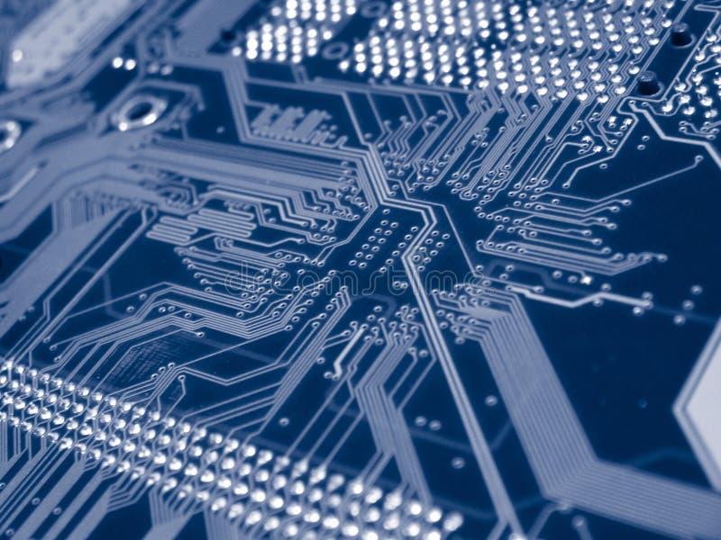 голубое mainboard компьютера стоковые изображения rf