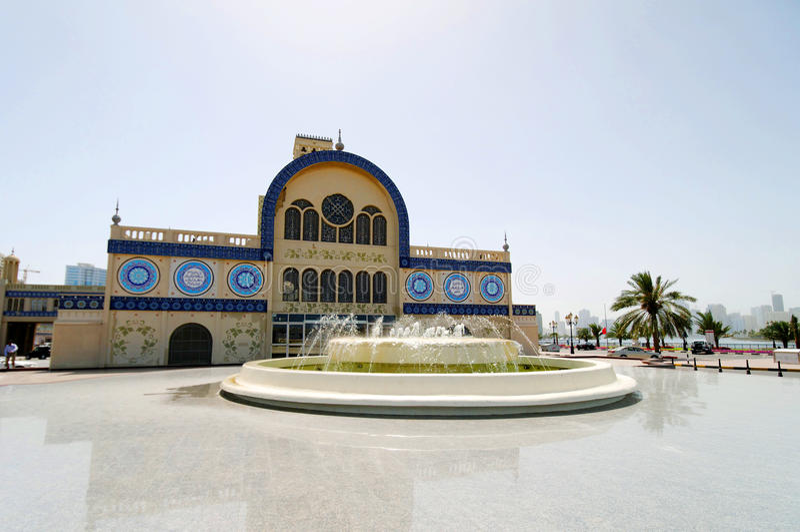голубое souk sharjah стоковая фотография