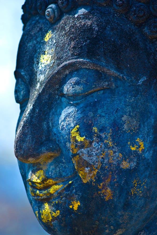 голубое sukhothai Таиланд стороны Будды стоковое фото rf