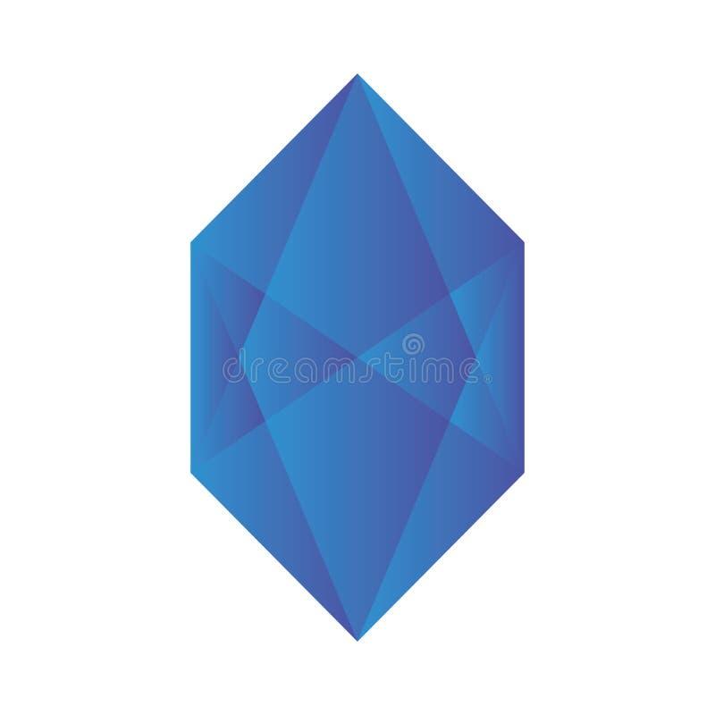 Голубой абстрактный вектор логотипа градиента диаманта стоковая фотография
