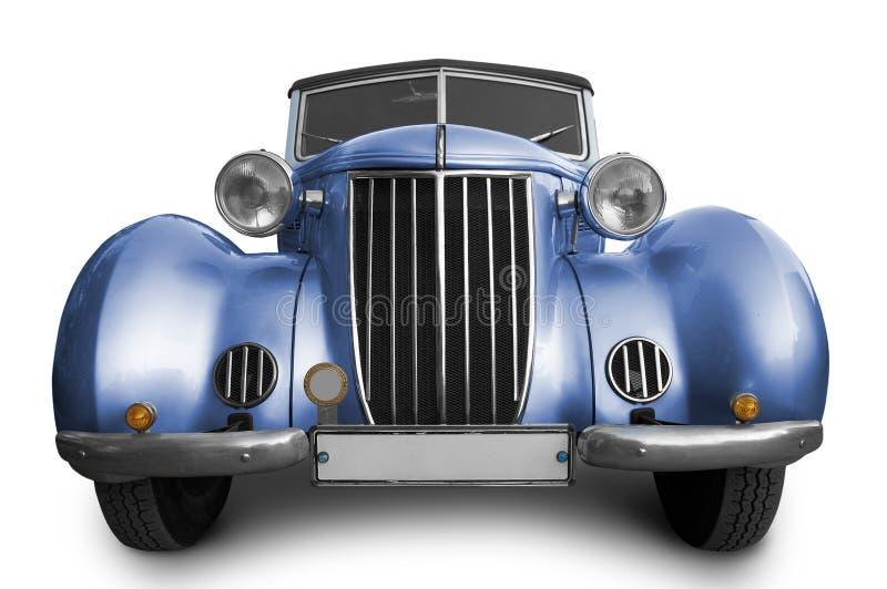 голубой автомобиль старый стоковая фотография rf