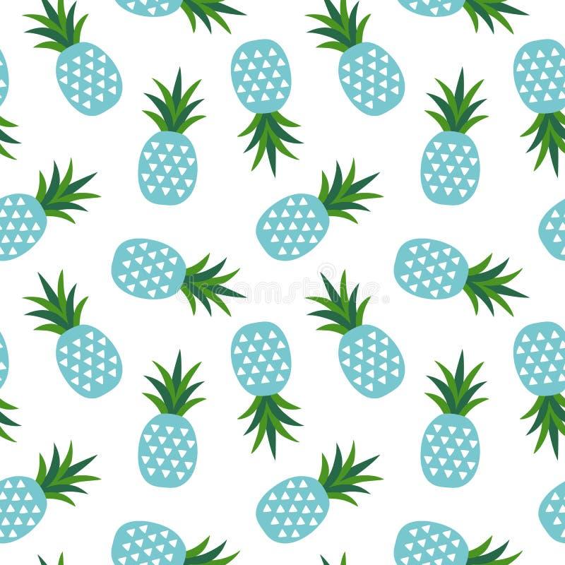 Голубой ананас с лета плодоовощ треугольников sw геометрического тропическим бесплатная иллюстрация