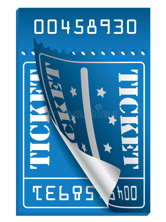 голубой билет к сорвано бесплатная иллюстрация