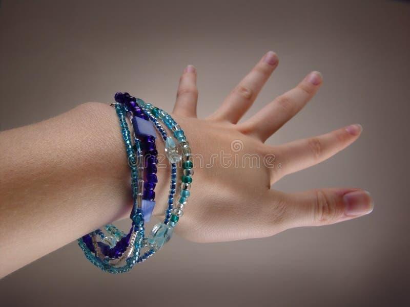 голубой браслет стоковая фотография