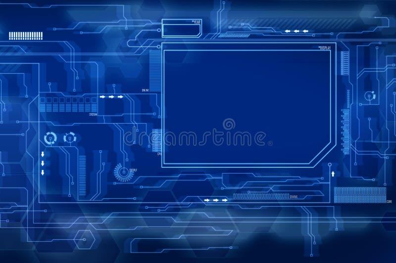 голубой будущий интерфейс иллюстрация вектора