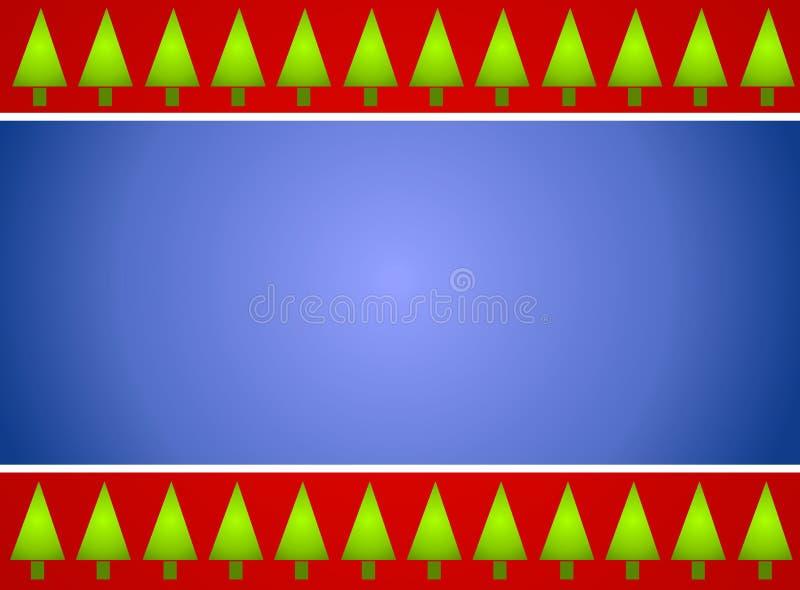 голубой вал красного цвета рождества граници иллюстрация штока