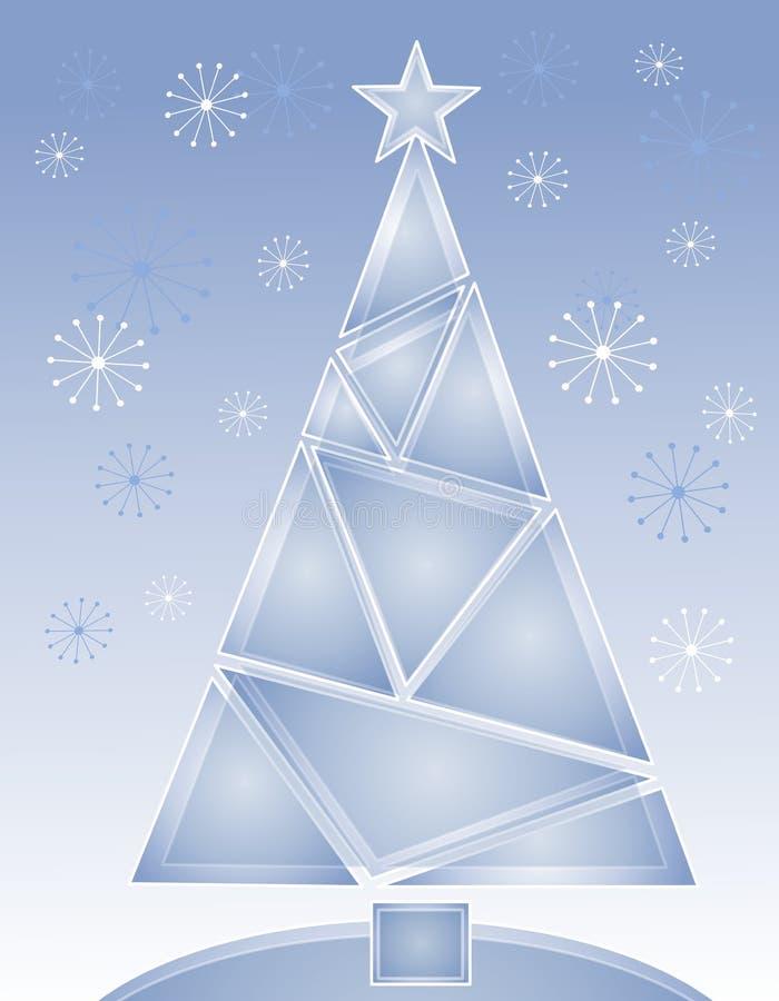 голубой вал кристалла рождества иллюстрация штока
