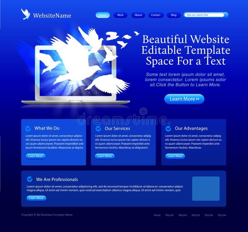 голубой вебсайт голубей иллюстрация вектора