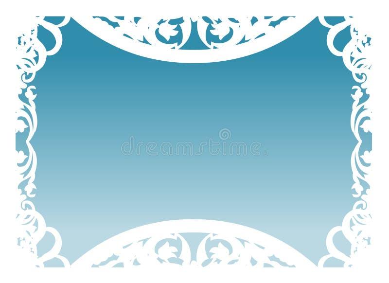 голубой вектор рамки иллюстрация вектора