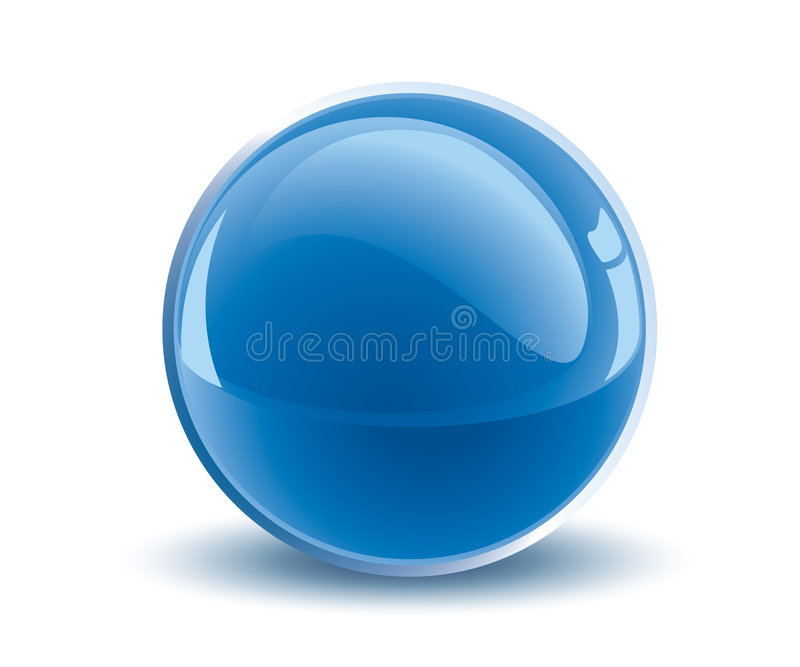 голубой вектор сферы 3d иллюстрация штока