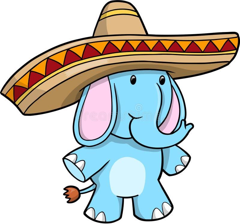 голубой вектор sombrero слона