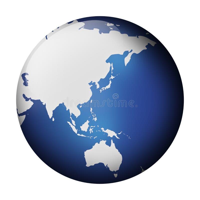 голубой взгляд глобуса иллюстрация штока