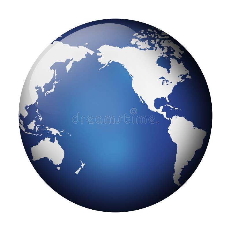 голубой взгляд глобуса иллюстрация вектора
