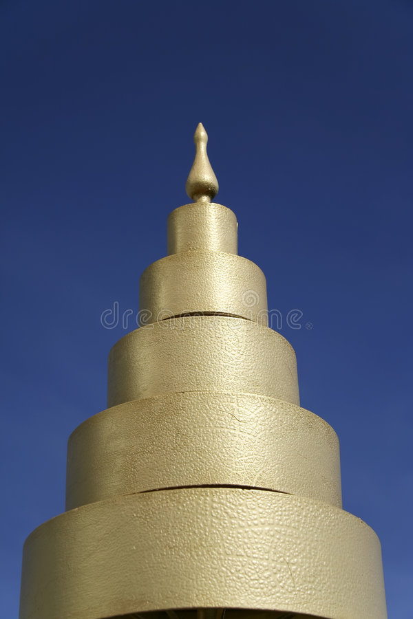 голубой висок Таиланд неба детали стоковые изображения rf