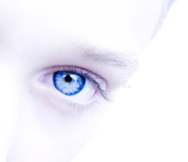 голубой глаз навсегда стоковые изображения rf