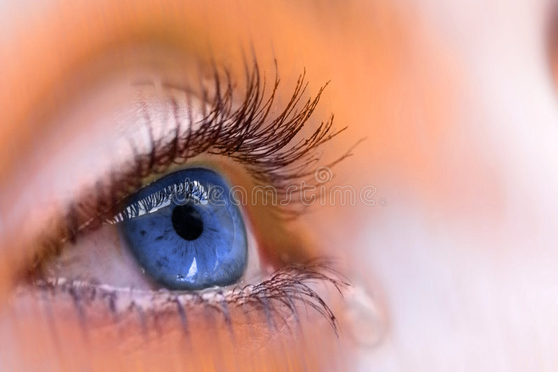 голубой глаз стоковая фотография rf