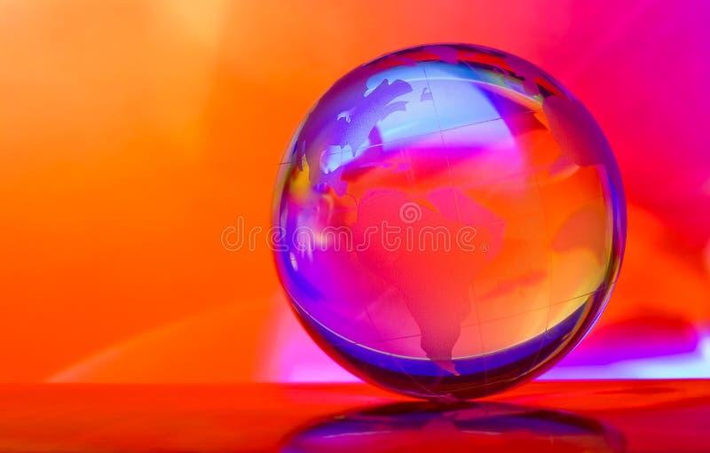 голубой глобус стоковая фотография rf