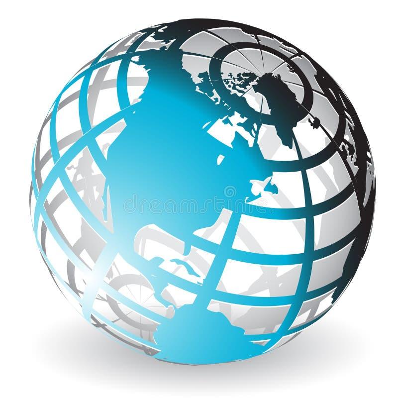 Download голубой глобус иллюстрация вектора. иллюстрации насчитывающей предохранение - 18395981