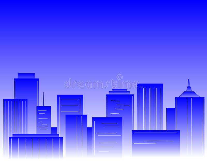 голубой город бесплатная иллюстрация