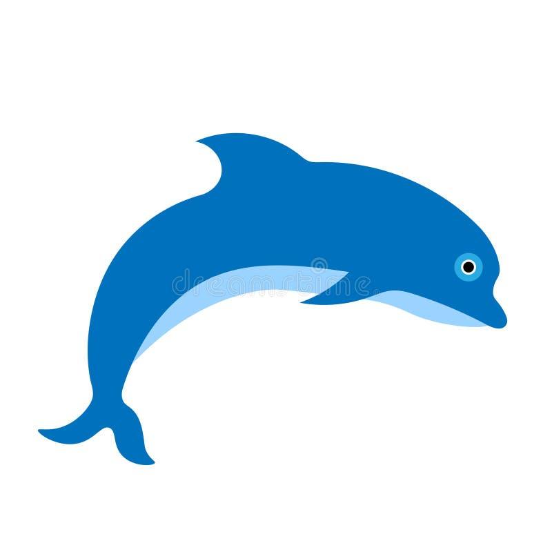 Голубой дельфин, рыба делает перескакивание бесплатная иллюстрация