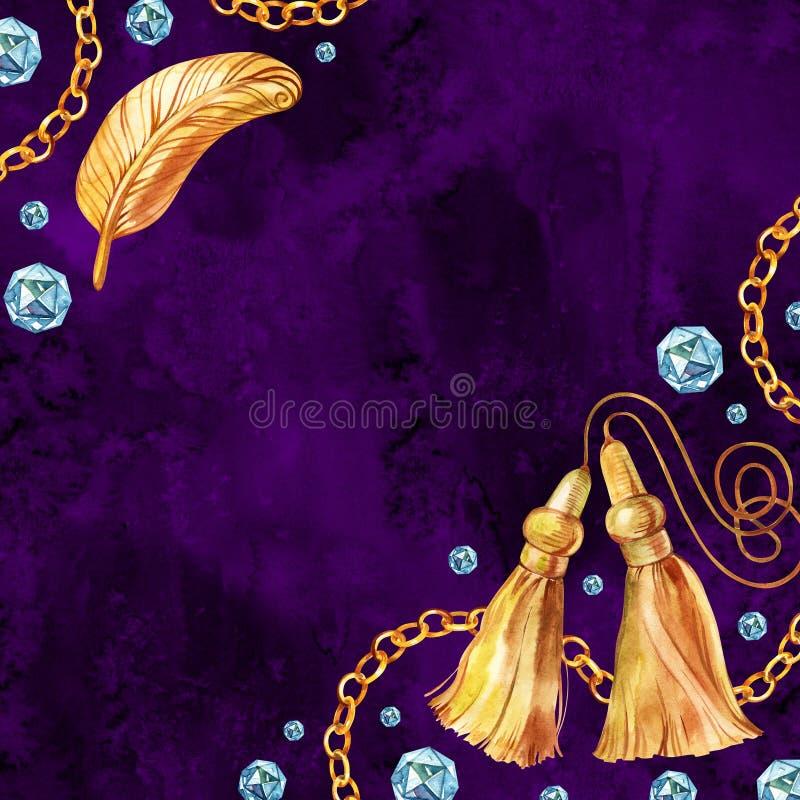 Голубой дизайн акварели диамантов Сохраните шаблон даты для свадьбы стоковая фотография