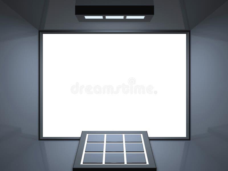 голубой дистанционный серебряный театр иллюстрация вектора