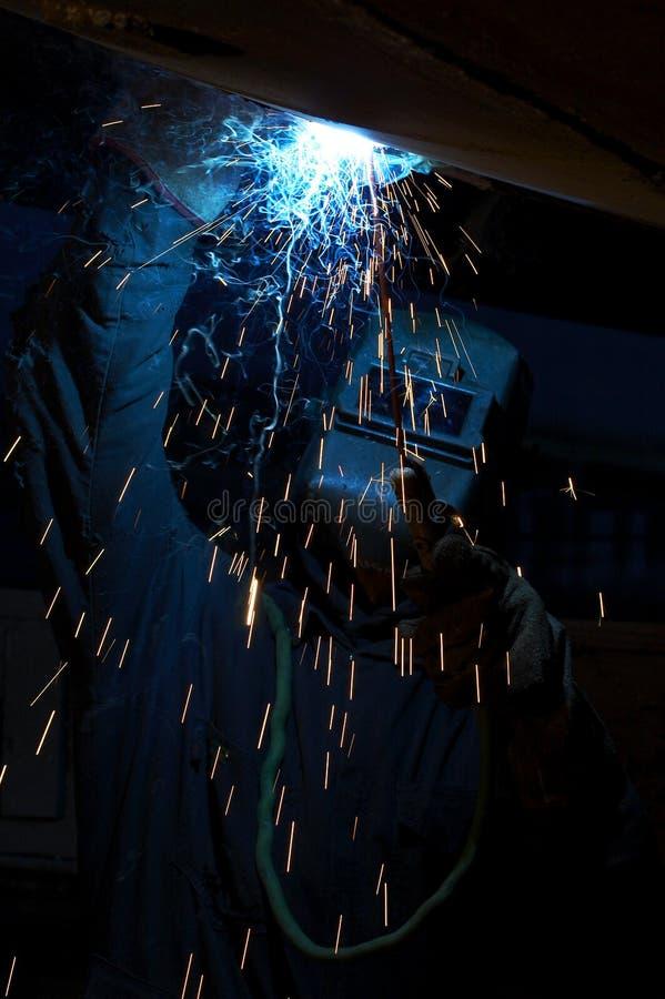 голубой дым ночи стоковое фото rf