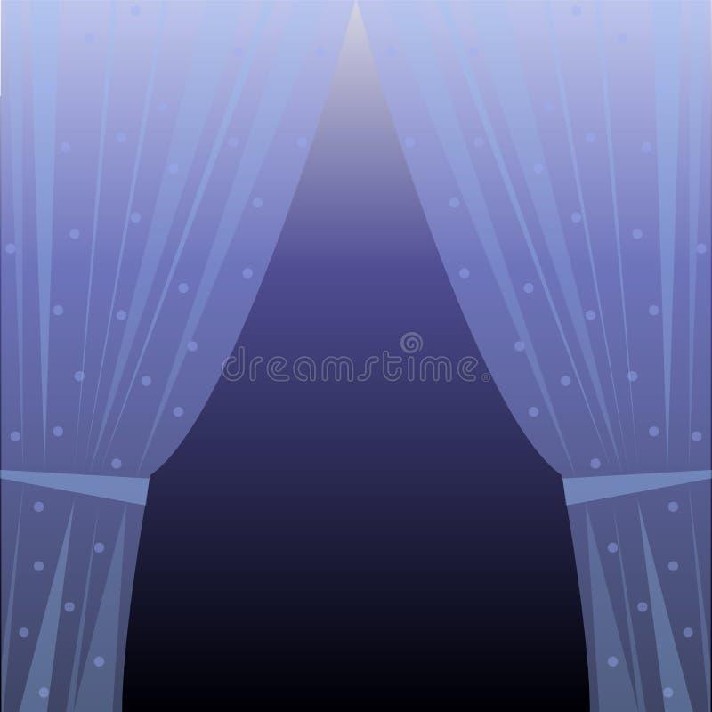 Голубой занавес иллюстрация штока