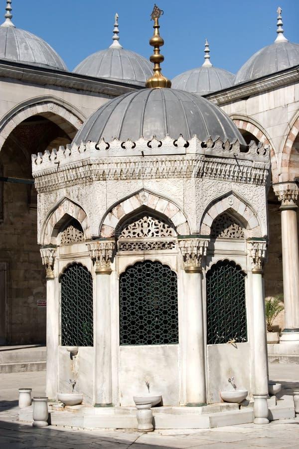 голубой запиток места мечети стоковое фото rf