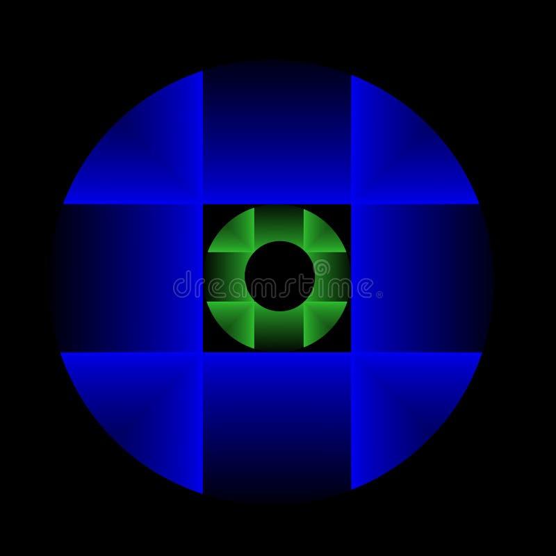 голубой зеленый цвет кругов стоковые изображения rf