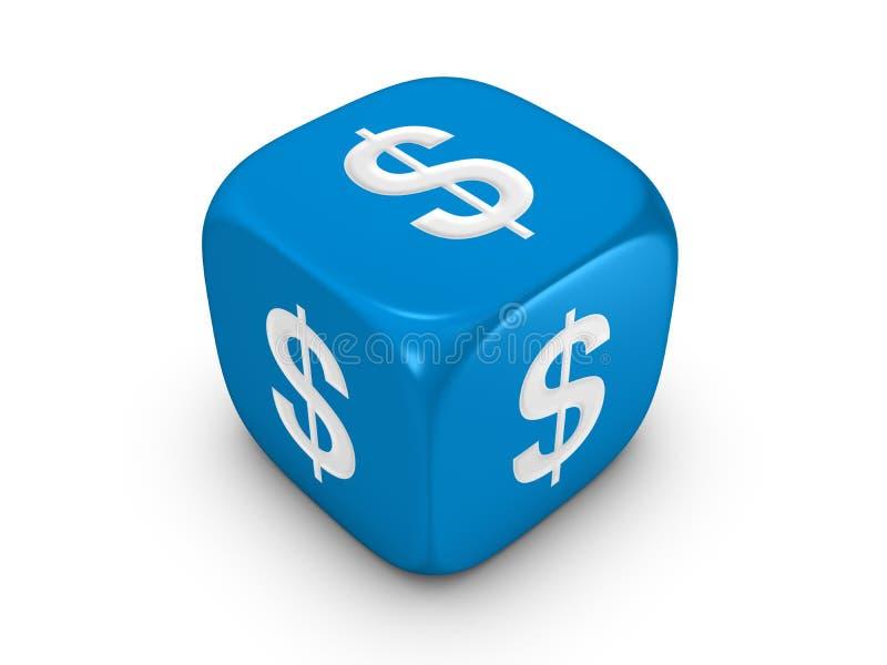 голубой знак доллара плашек иллюстрация вектора