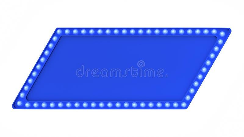 Голубой знак доски света шатёр ретро на белой предпосылке перевод 3d стоковые изображения rf