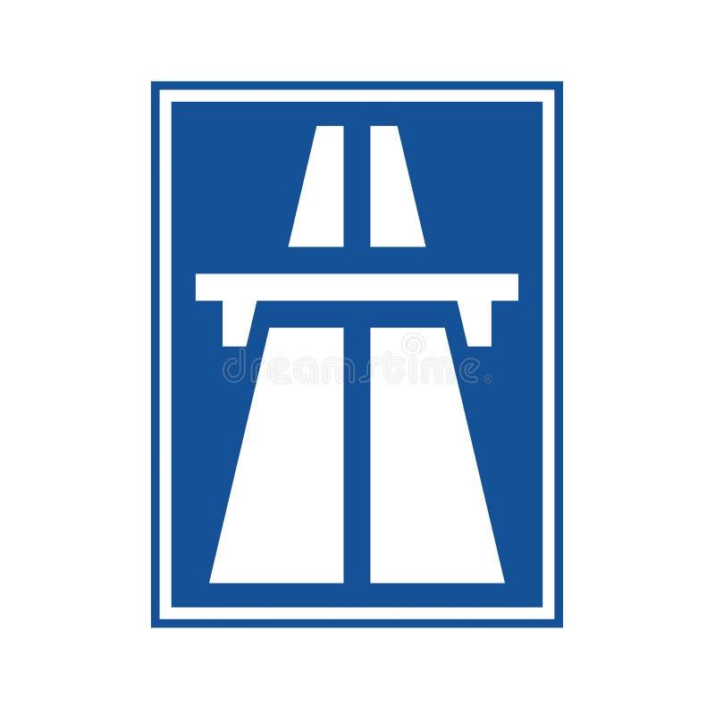 Голубой знак шоссе иллюстрация вектора