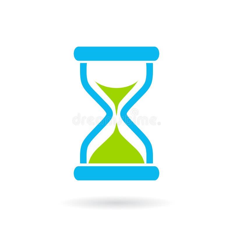 Голубой значок вектора часов иллюстрация вектора