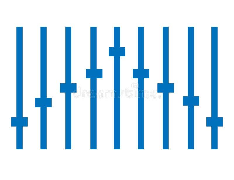 Голубой значок выравнивателя на белой предпосылке иллюстрация вектора