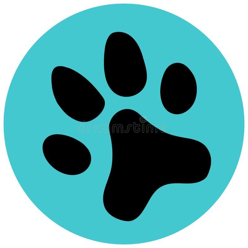 Голубой значок лапки плоско Символ иллюстрации вектора бесплатная иллюстрация