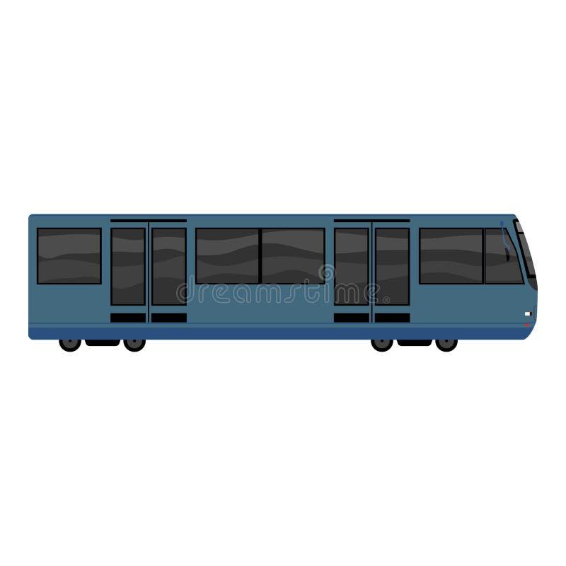 Голубой значок метро, стиль мультфильма иллюстрация штока