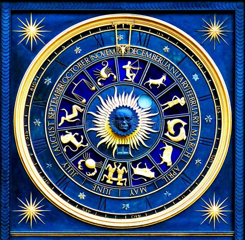 голубой зодиак стоковые фотографии rf