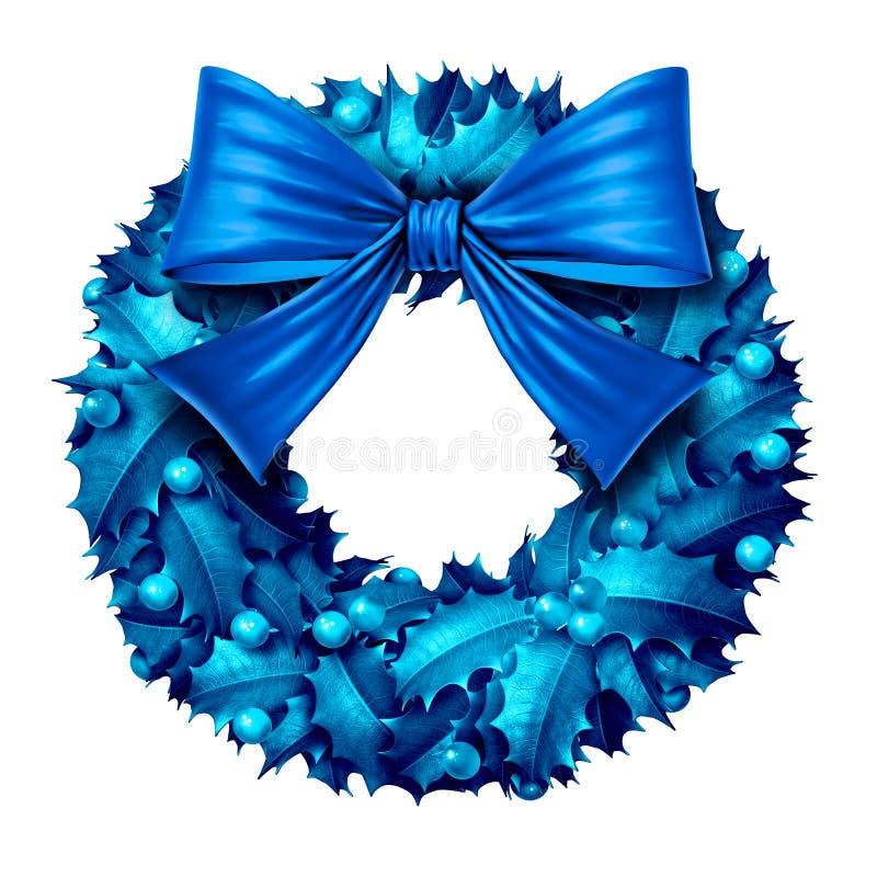 Голубой изолированный венок бесплатная иллюстрация